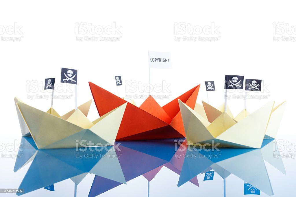 Pirate Ship with white background stock photo