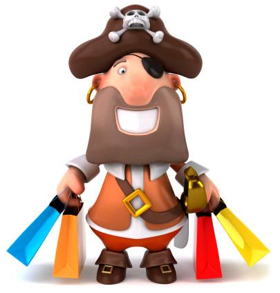 Pirate shopping