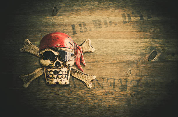 pirate sign stock photo