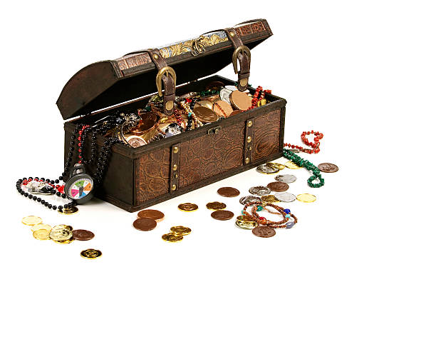 Pirate Treasure Chest With Booty stock photo