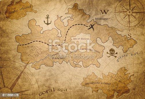 istock pirate treasure map 611868178