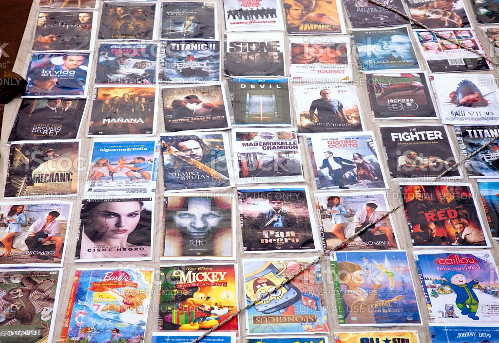 Pirated dvds for sale royalty-free stock photo