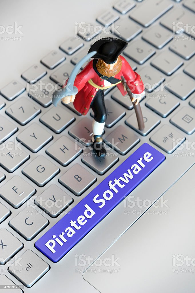Pirated Software stock photo