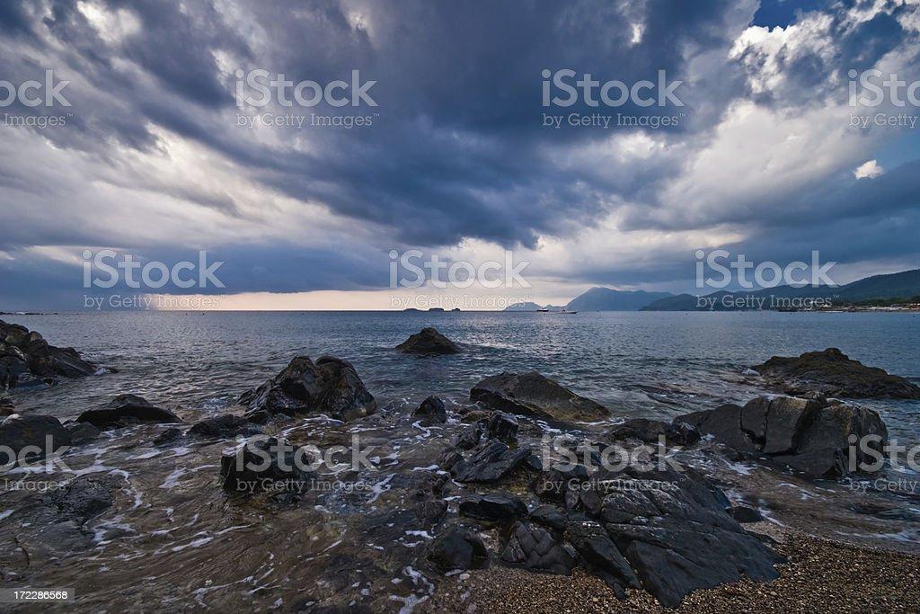 Pirates' beach Turkey royalty-free stock photo