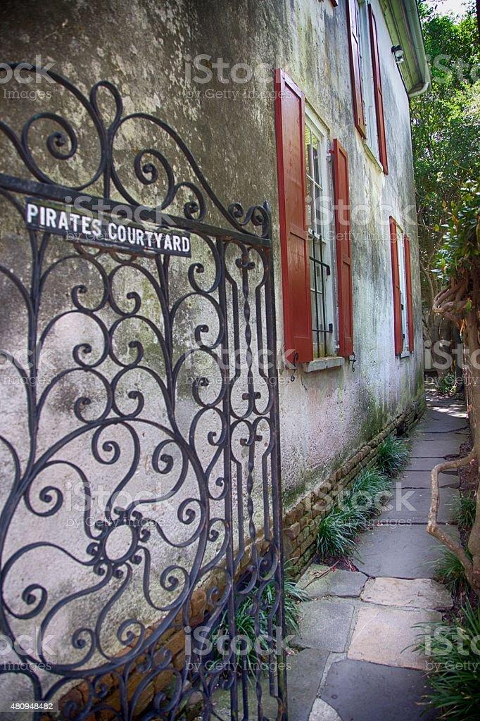 Pirates Courtyard stock photo