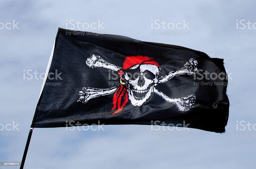 Pirates flag stock photo