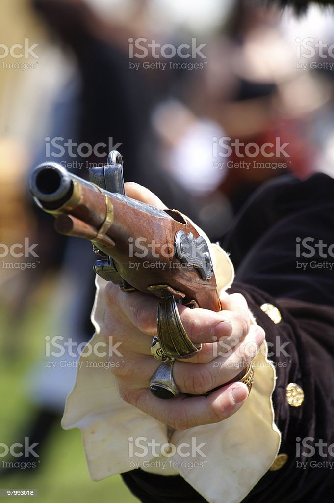 Pirates gun royalty-free stock photo