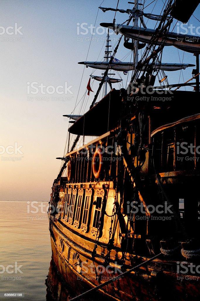 Pirates of Aegean sea stock photo
