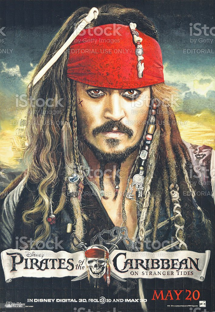 Pirates of the Caribbean: On Stranger Tides - Poster stock photo