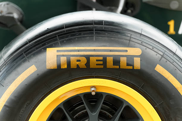 Pirelli tire stock photo