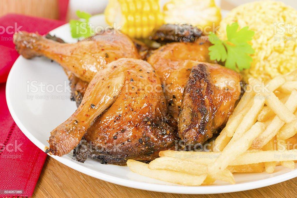 Piri Piri Chicken stock photo