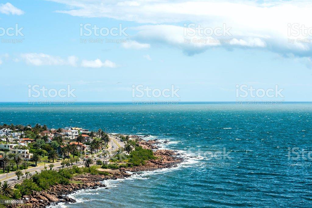 Piriapolis in the Uruguay Coast stock photo