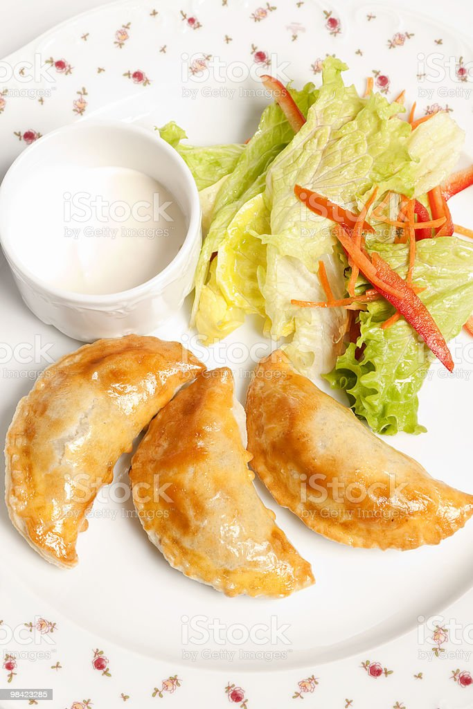 Pirogies pasties royalty-free stock photo