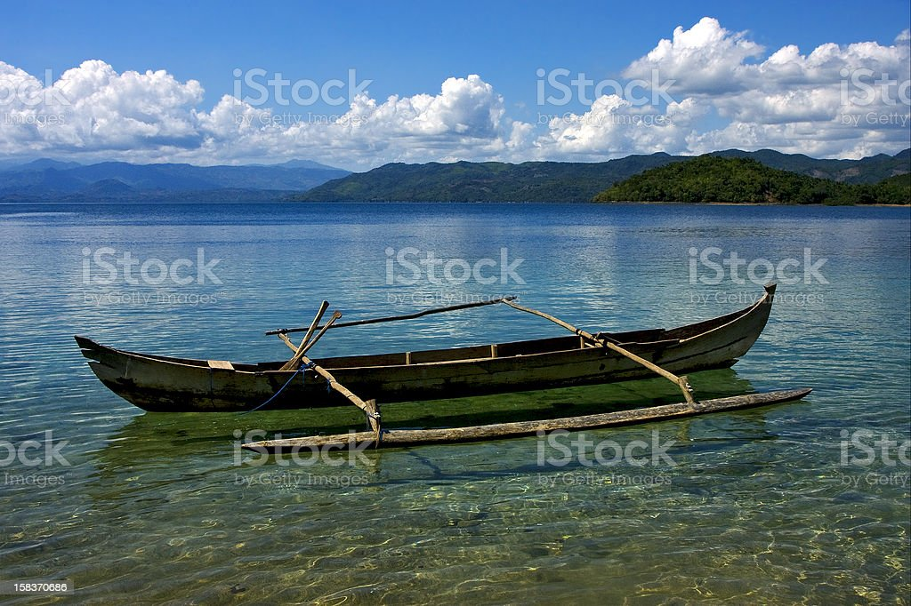 piroga in madagascar stock photo
