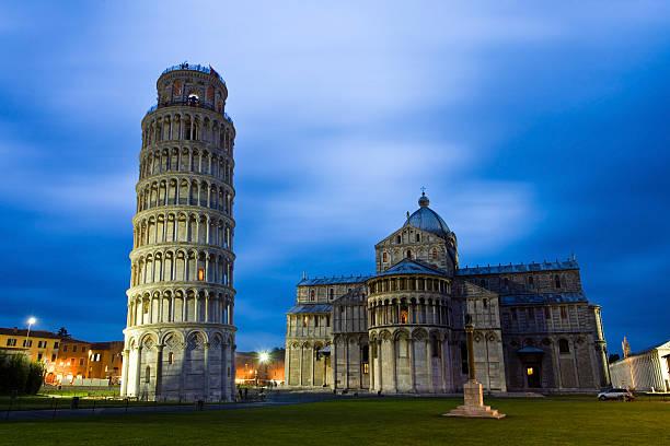Pisa at night stock photo