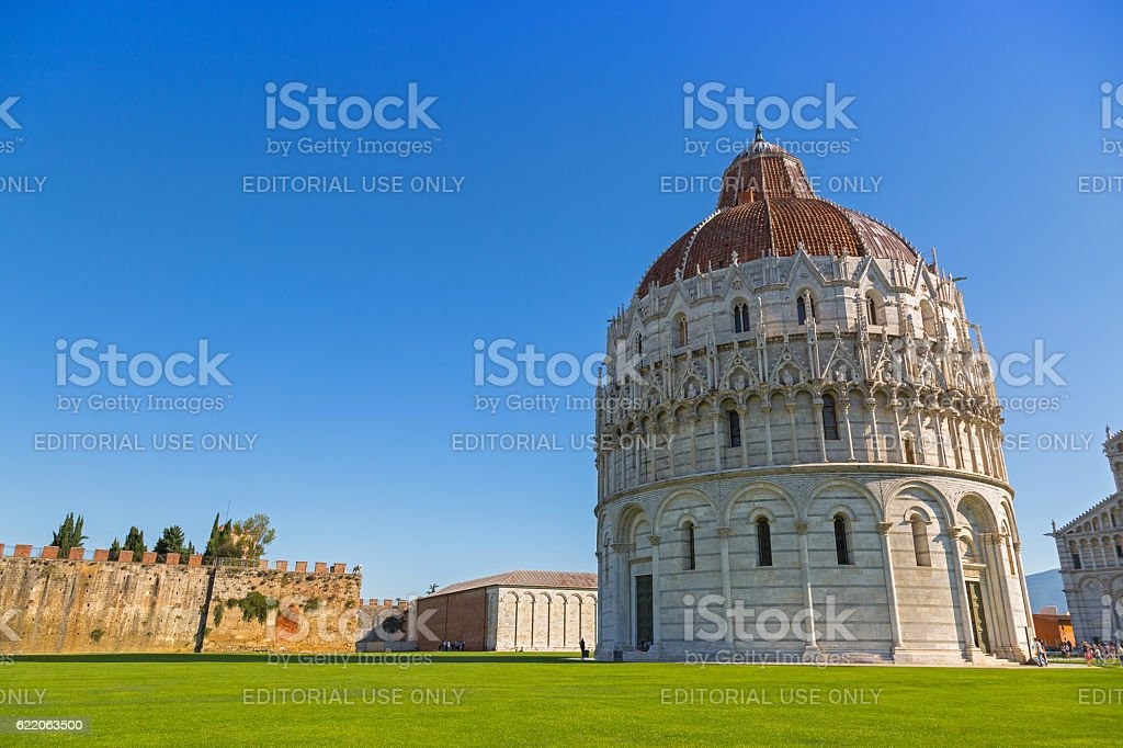 Pisa Baptistery of St.John, Battistero di San Giovanni, Italy stock photo