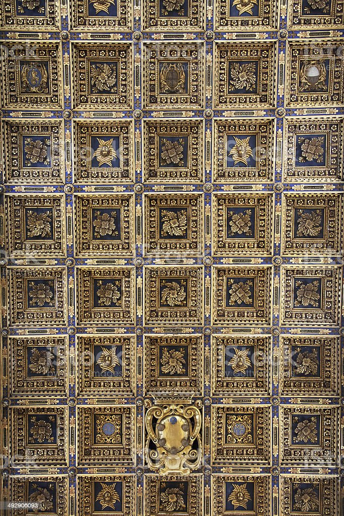 Pisa cathedral ceiling stock photo