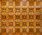 Pisa Cathedral golden coffer ceiling Piazza del Duomo Pisa Tuscany Italy