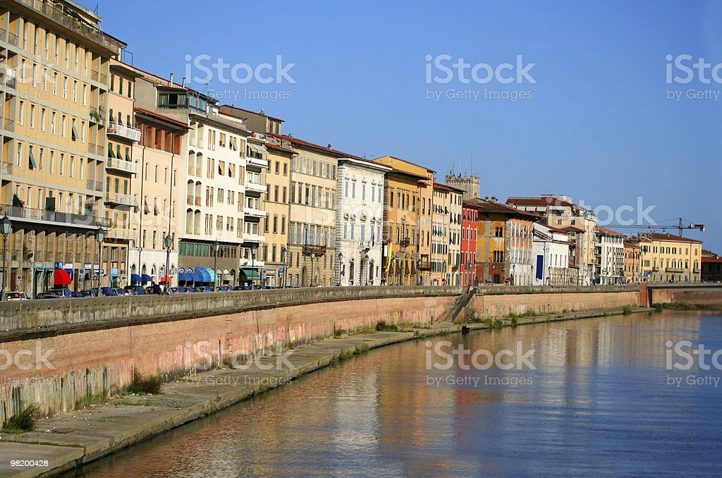 Pisa city by the river royalty-free stock photo
