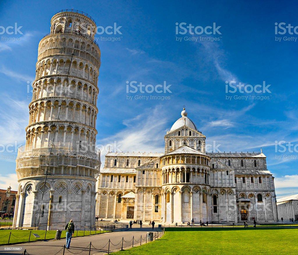 Pisa, Piazza dei miracoli. stock photo