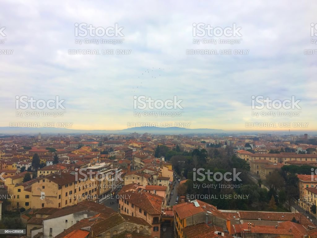 Pisa - Royalty-free Aerial View Stock Photo