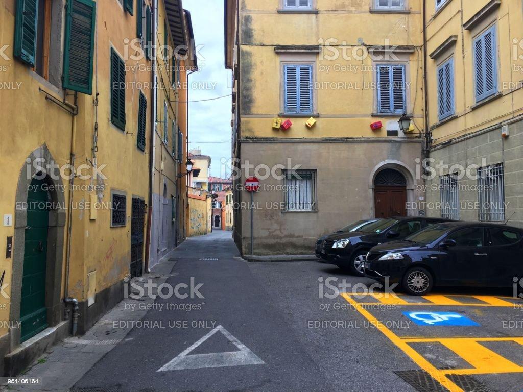 Pisa straten - Royalty-free Architectuur Stockfoto