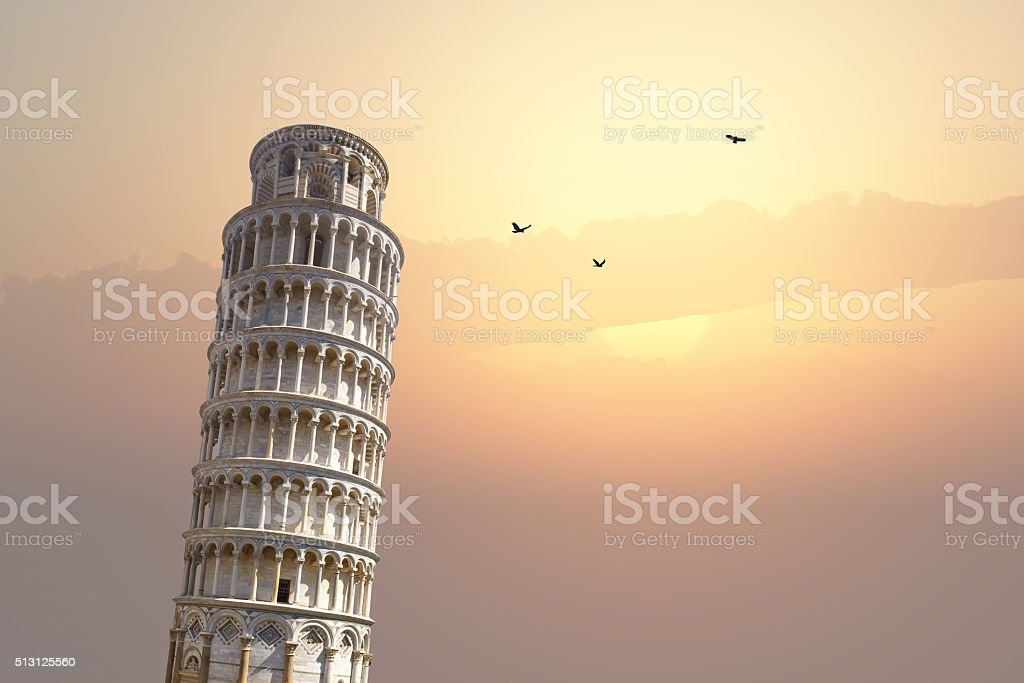 Pisa Tower View stock photo
