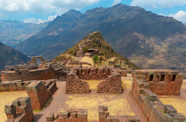 Pisac Inca Ruin, Cusco, Peru stock photo