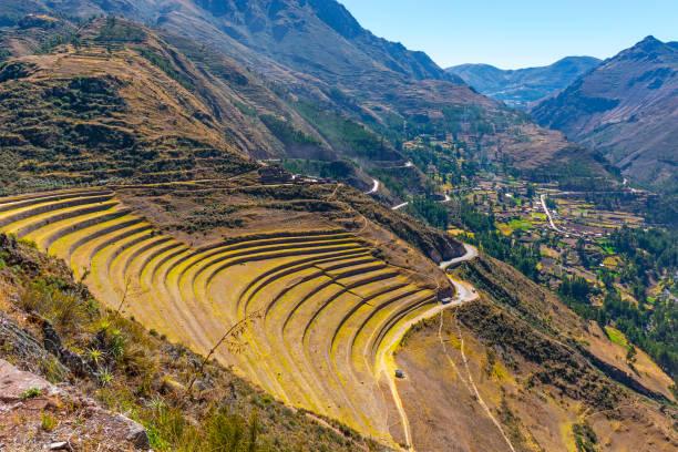 Pisac Inca Ruins, Peru stock photo