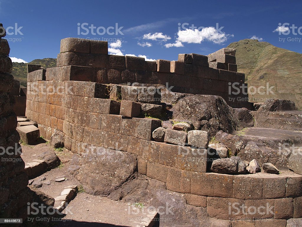 Pisac Ruins in the Sacred Valley, Peru royalty-free stock photo