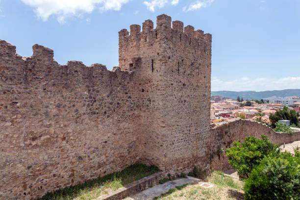 Pisan city walls in Iglesias stock photo