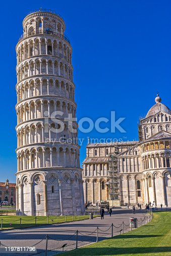 Pisa,The Leaning Tower. Tuscany, Italy.