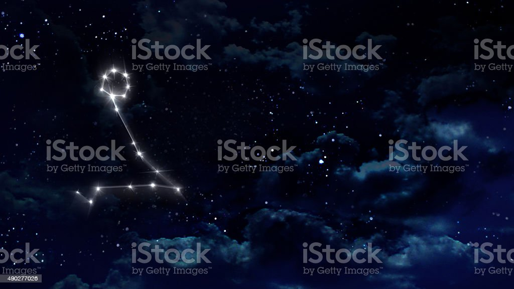 12 Pisces Horoscope night white stock photo