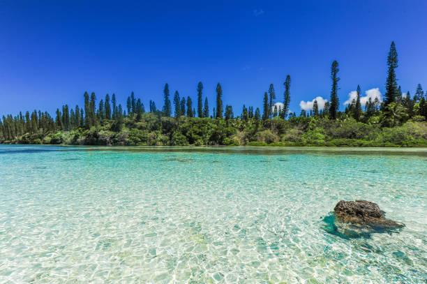 Piscine Naturelle D'Oro, Isle of Pines, New Caledonia stock photo