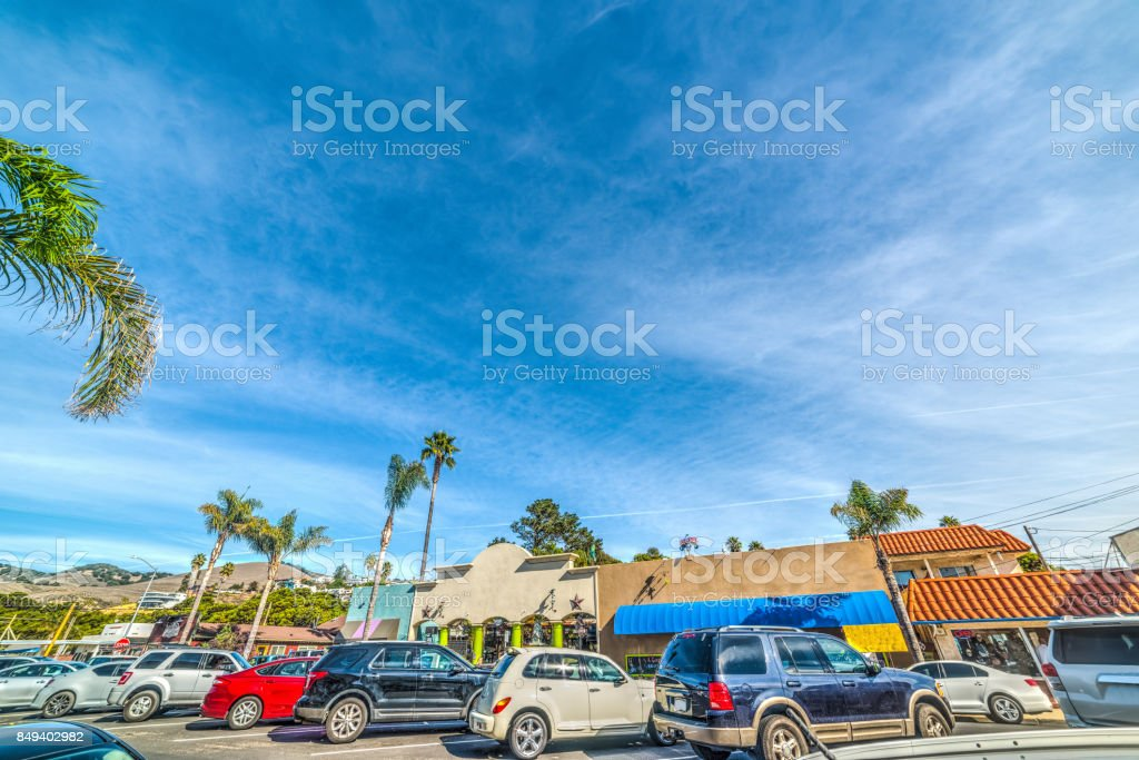 Pismo beach on a sunny day stock photo