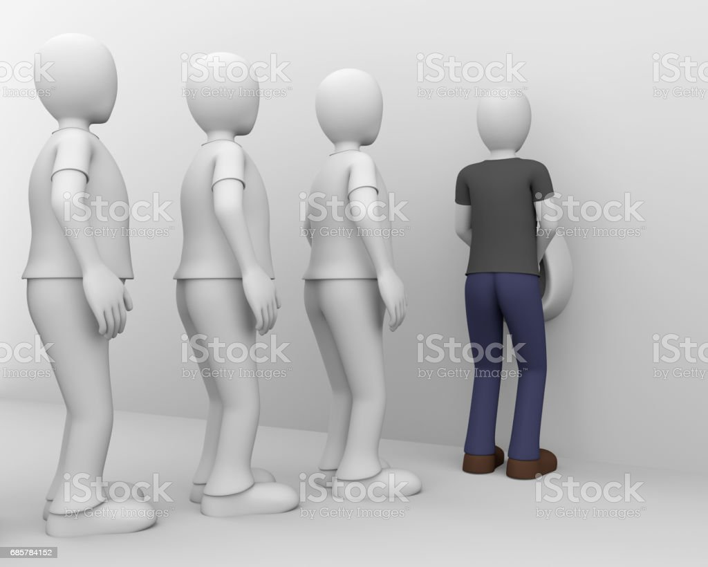 pissing queue royalty-free stock photo