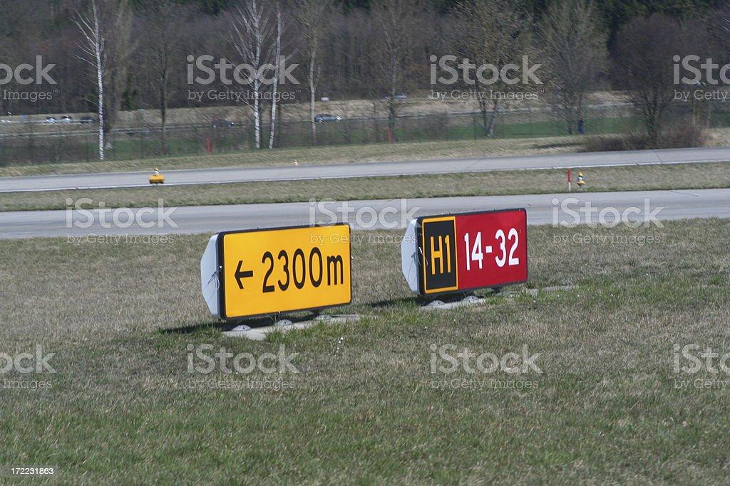 pista de aereopuerto stock photo