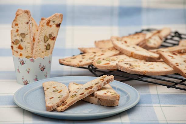 Pistachio and apricot bread stock photo