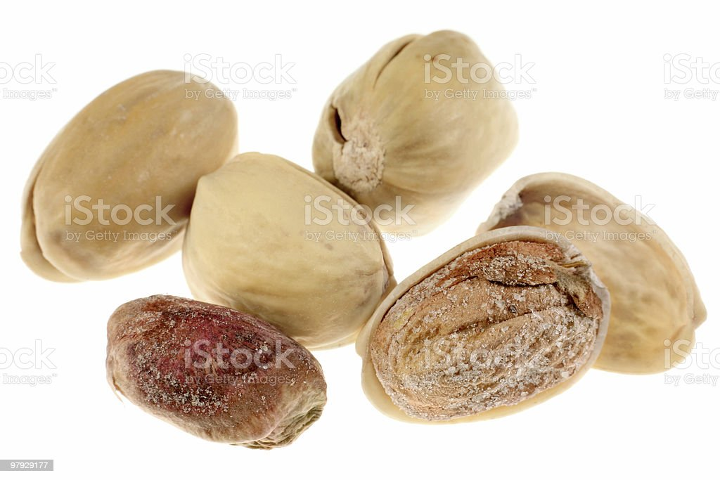 Pistachio group royalty-free stock photo