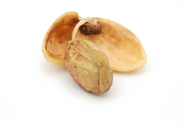 Pistachio Nut cracked open stock photo