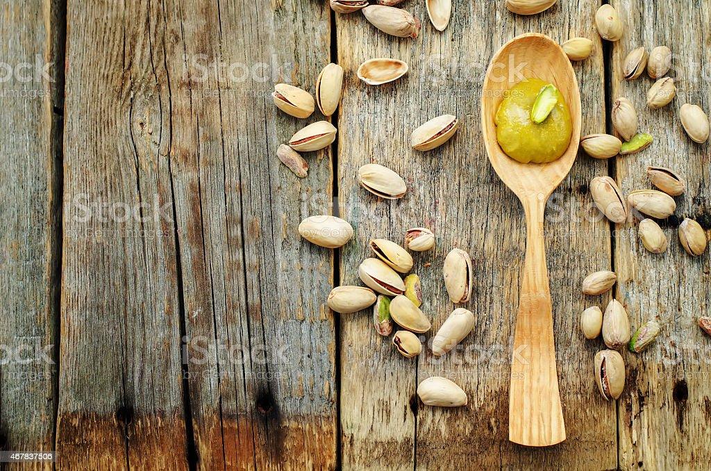 pistachio paste stock photo