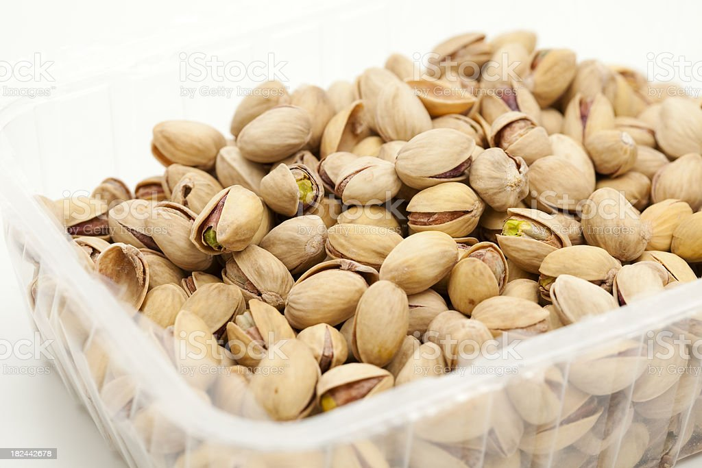pistachios in box royalty-free stock photo