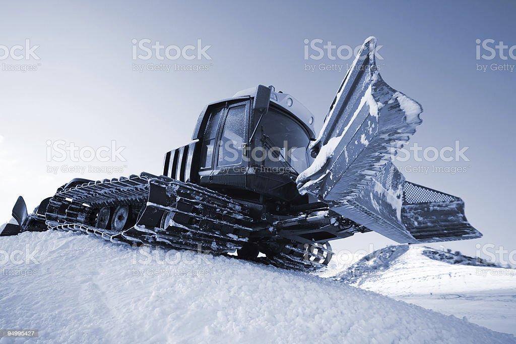 Piste machine (snow cat) royalty-free stock photo