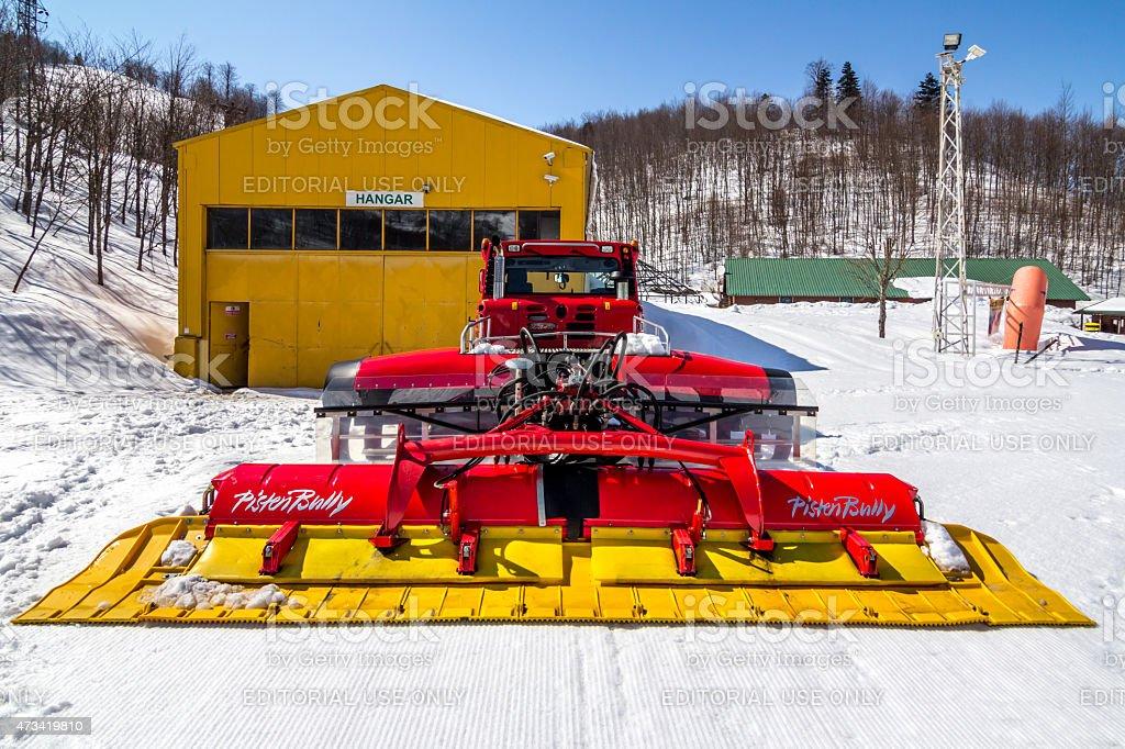 PistenBully Snow Cleaner stock photo