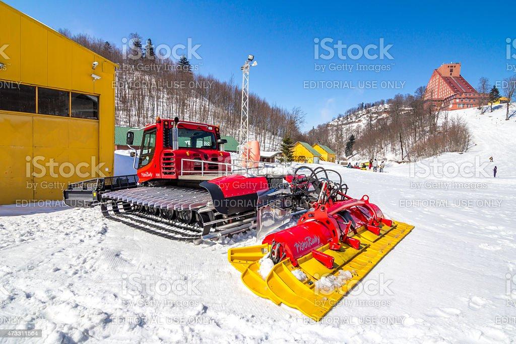 PistenBully Snow stock photo