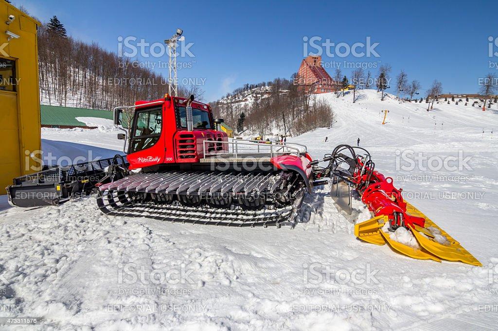 PistenBully Snowplow stock photo