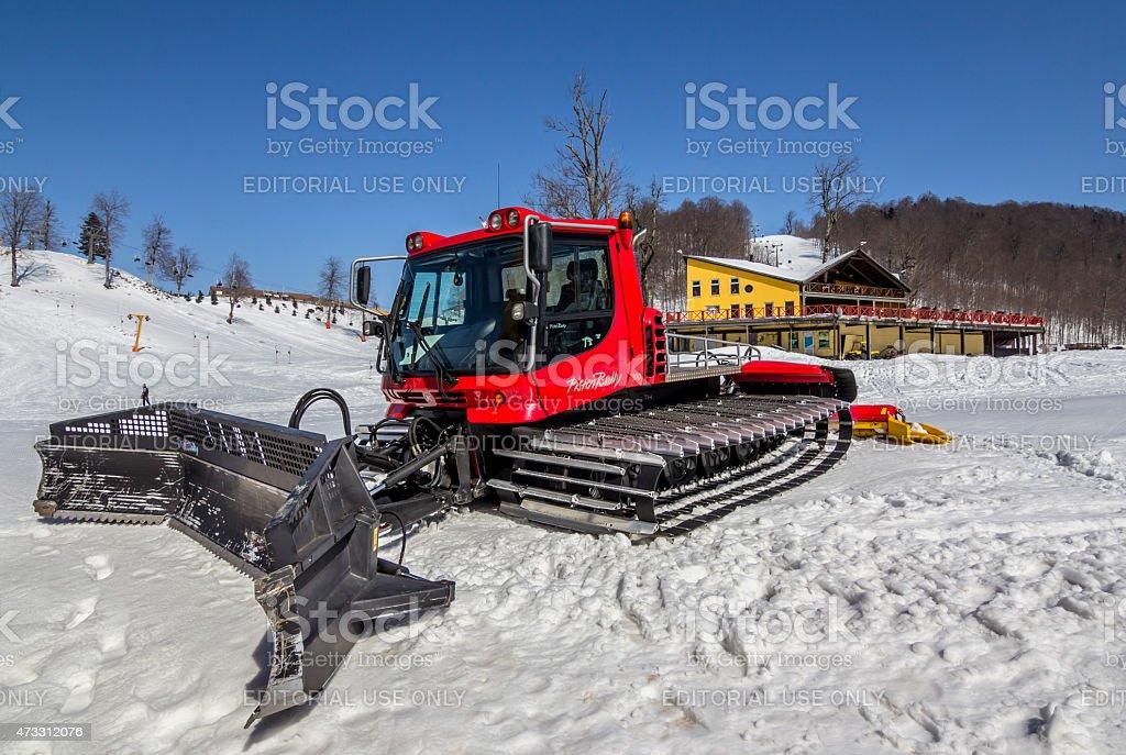 PistenBully Snowplow Vehicle stock photo