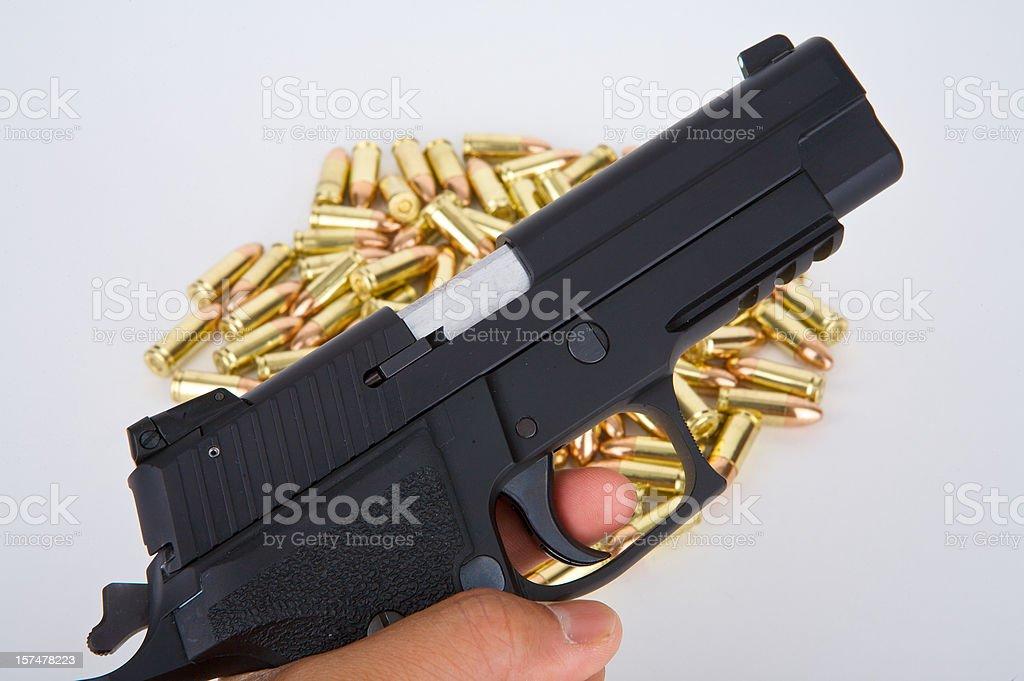 Pistol and Ammo royalty-free stock photo