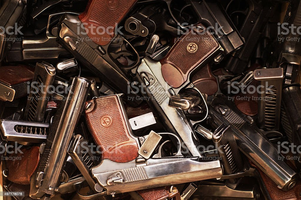 PM pistol as background stock photo