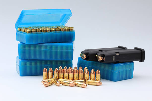 pistol bullet stock photo